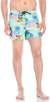 Sundek Green Palm Tree Swim Trunks