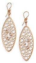 Roberto Coin Bollicine Diamond & 18K Rose Gold Oval Drop Earrings