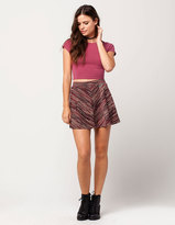 Full Tilt Marled Stripe Skirt