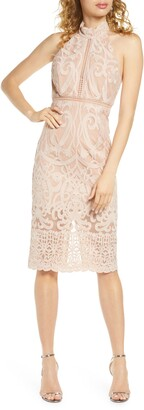 Bardot Hana Lace Halter Cocktail Dress