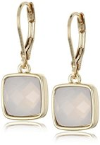 "Anne Klein Fly Away with Me"" Gold-Tone Rose Quartz Single Leverback Drop Earrings"