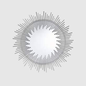 Christopher Knight Home Sunking Modern Industrial Metal Sunburst Wall Mirror Silver