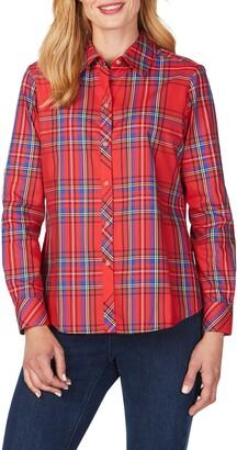 Foxcroft Diane Emerson Tartan Shirt