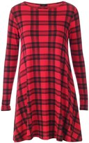 Xclusive Collection New Womens Plus Size Tartan Swing Dress Check Block Leggings 16-26( ,16-18)