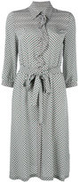 Bottega Veneta checked ruffled shirt dress - women - Silk - 44