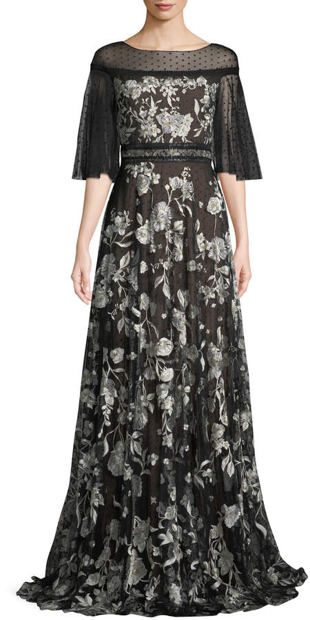 f0052e684d Marchesa Notte Embroidered Tulle Gown - ShopStyle