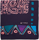 Etro Men's Folkloric-Print Silk Pocket Square