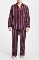 Derek Rose Men's 'Regimental' Cotton Stripe Pajamas