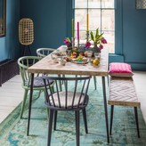 Graham and Green Amaliah Chevron Dining Table & Bench