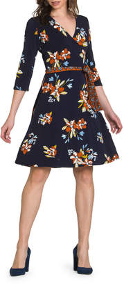 Neiman Marcus Perfect Mini Wrap Dress