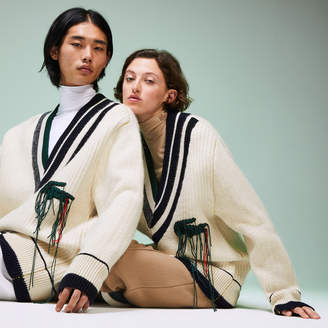 Lacoste Unisex Fashion Show Oversized V-neck Sweater