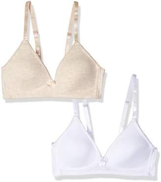Bestform Women's Junior 2 Pack Cotton Wirefree Bra