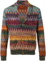 Missoni zig-zag cardigan - men - Cotton/Linen/Flax/Nylon/Viscose - 48