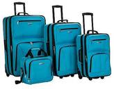 Rockland Journey 4pc Luggage Set - Turquoise
