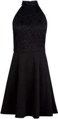 Dorothy Perkins Womens **Black Lace Halter Neck Skater Dress, Black