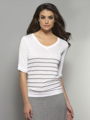 New York & Co. Love NY&C Collection - Striped Pullover Tee