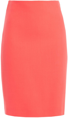 Giorgio Armani Wool-crepe Pencil Skirt