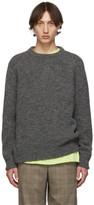 Tibi SSENSE Exclusive Grey Airy Crewneck Sweater