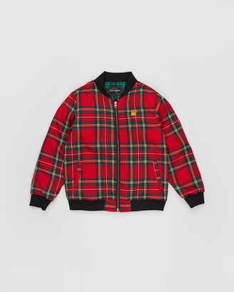 Rock Your Kid Tartan Bomber Jacket - Kids-Teens