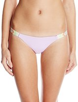 Mara Hoffman Women's Embroidered Low-Rise Bikini Bottom