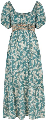 Free People Ellie Floral-print Gauze Midi Dress