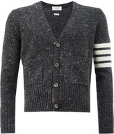 Thom Browne flocked V-neck cardigan