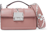 Lanvin Jiji Small Studded Leather Shoulder Bag - Blush