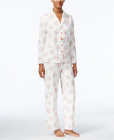 Charter Club Printed Fleece Pajama Set, Only at Macy's