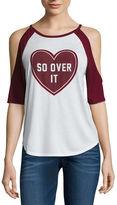 Freeze So over it Cold Shoulder Graphic T-Shir