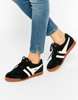 Gola Classic Harrier Sneakers In Black & Ecru