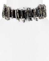 "Marc Jacobs Safety Pin Velvet Choker Necklace, 11"""