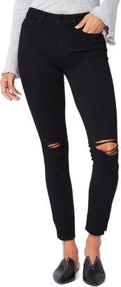 Paige Hoxton High Waist Split Hem Ankle Skinny Jeans