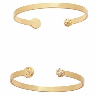 Mud Pie Women's Initial Pave Bracelet B