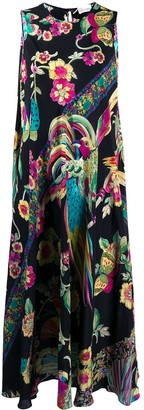 RED Valentino Birds of Paradise silk dress