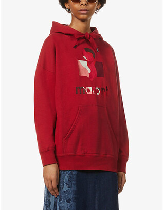 Etoile Isabel Marant Mansel logo-embroidered cotton-blend jersey hoody