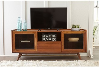 Rye Studio Waldorf Walnut Mid Century Modern Media TV Cabinet