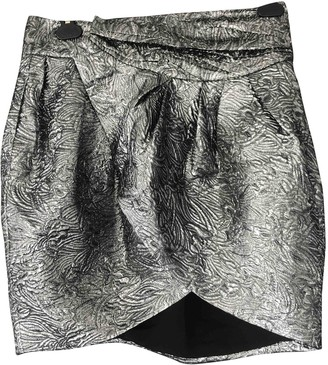 Isabel Marant Pour H&m Silver Wool Skirt for Women