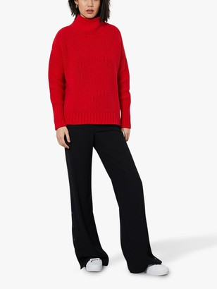 Mint Velvet Chunky Funnel Neck Jumper, Red