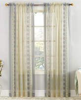 "Lichtenberg No. 918 Tosha 59"" x 63"" Colorblocked Medallion-Print Sheer Voile Rod Pocket Curtain Panel"