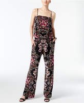 INC International Concepts Petite Printed Wide-Leg Jumpsuit, Created for Macy's