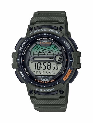 Casio Men's Fishing Timer Quartz Watch with Resin Strap
