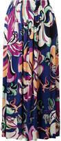 Emilio Pucci Aruba Printed Jersey Maxi Skirt - Navy