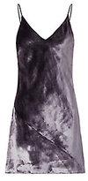Fleur Du Mal Smoke Panne Velvet Dress