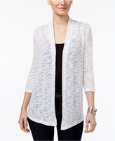 JM Collection Petite Lace-Back Open-Front Cardigan, Created for Macy's