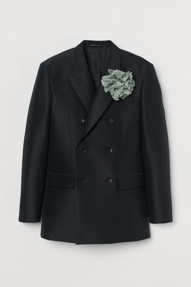 H&M Wool-blend Tuxedo Jacket - Black