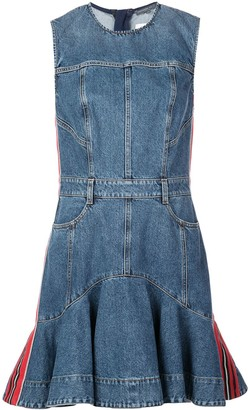 Alexander McQueen Denim Flared Dress