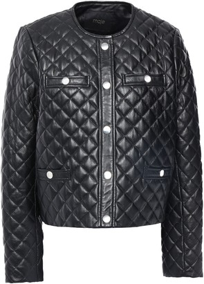 Maje Quilted Leather Jacket