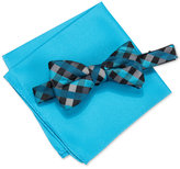 Alfani Blue Bow Tie & Pocket Square Set, Only at Macy's