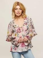 Miss Selfridge Burnout floral print blouse
