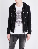 Balmain Lace-up cotton jacket